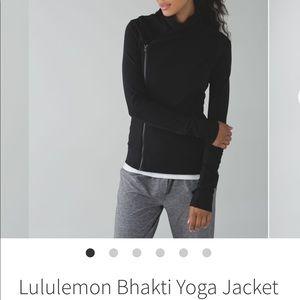 Lululemon Black Bhakti Yoga Jacket Size 6 EUC